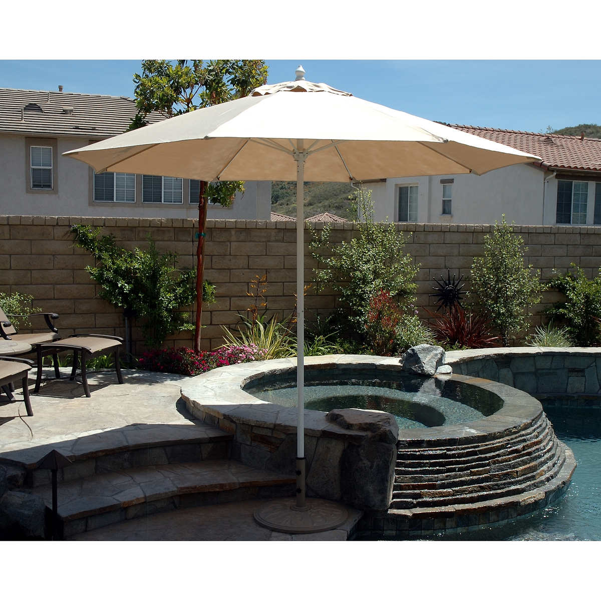 Tropishade Commercial Patio Umbrella. Item #304287. Click to Zoom - 9 Ft. Tropishade Commercial Patio Umbrella