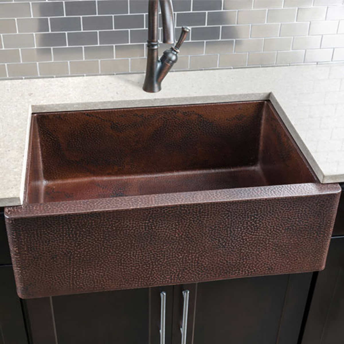 hahn copper single bowl farmhouse sink - Kitchen Sinks Pictures
