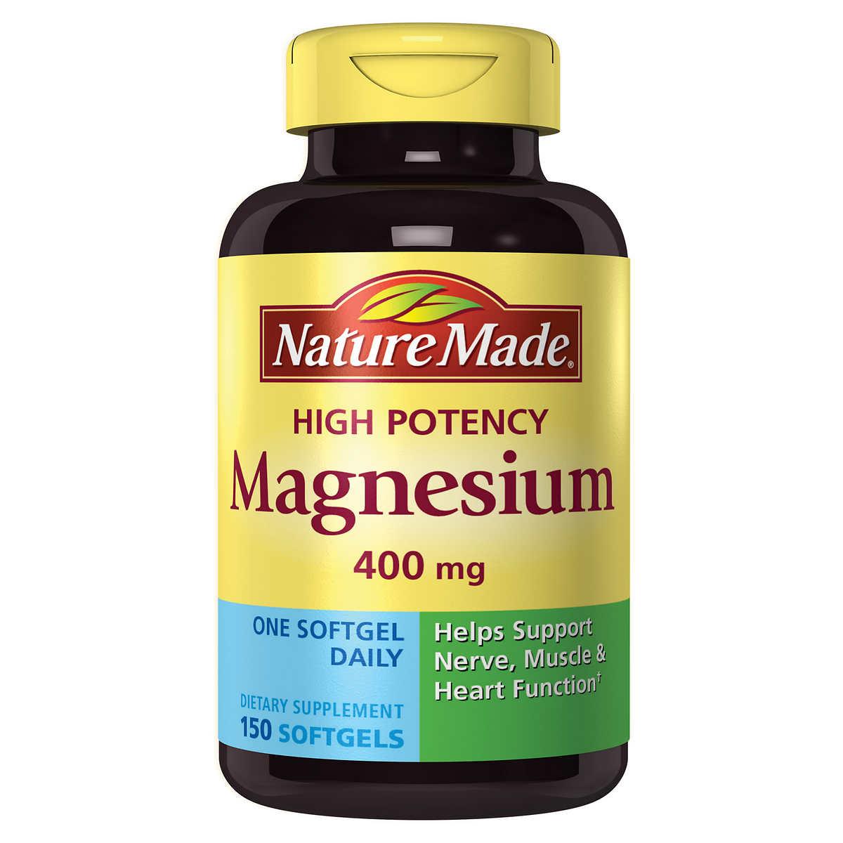 nature magnesium mg 400 softgels liquid potency tablets complex super tab description