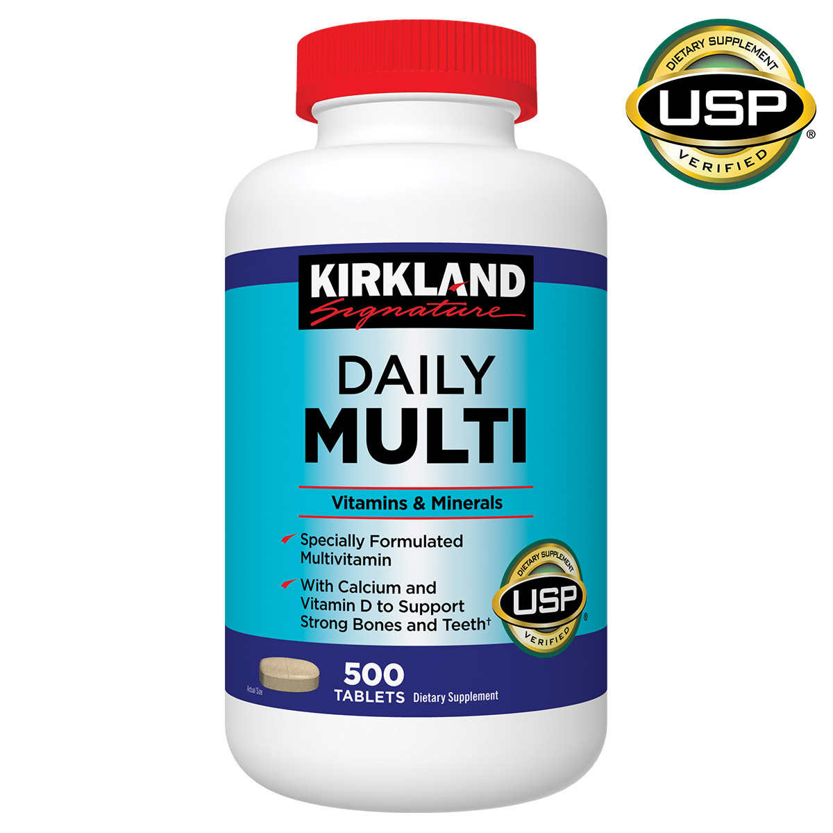 kirkland multi daily costco signature tablets multivitamin vitamin specially coupons january vitamins description
