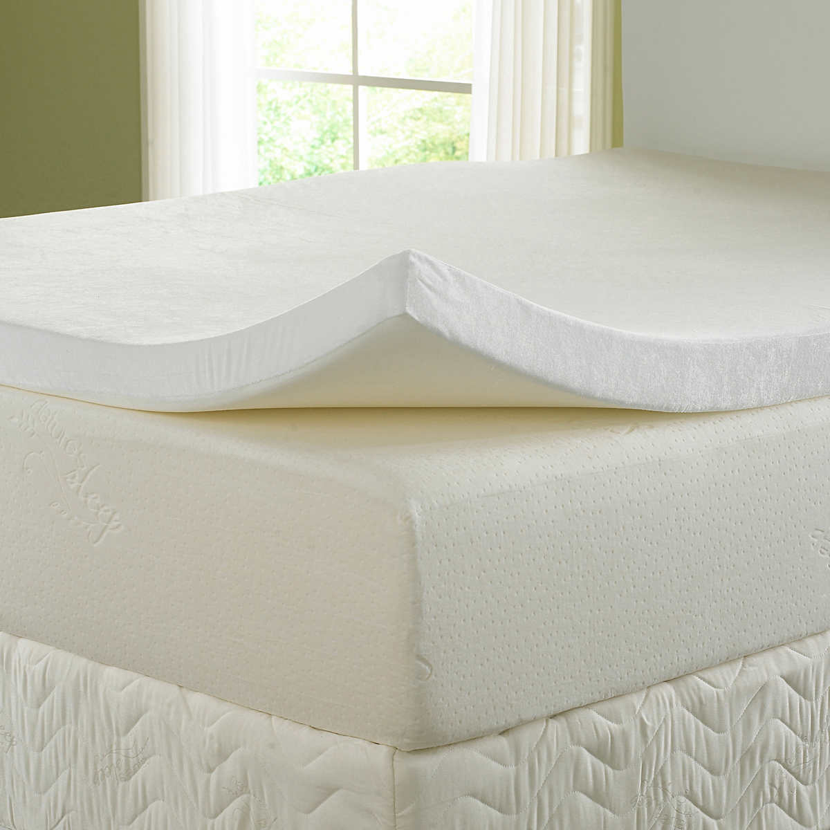 Natures Sleep 3 Visco Memory Foam Topper With 300tc Cover