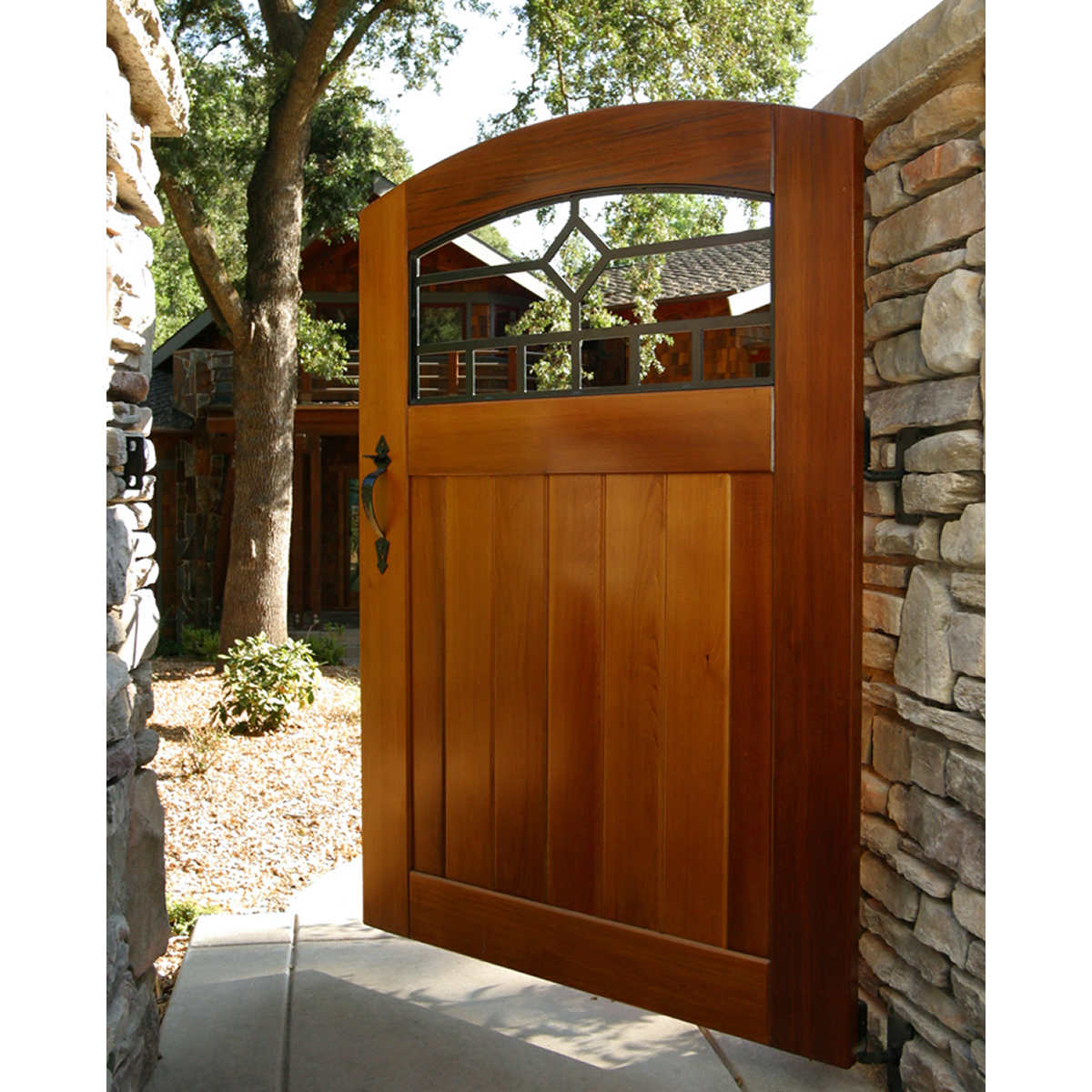 Gates costco craftsman mission diamond side yard wood gate eventelaan Image collections
