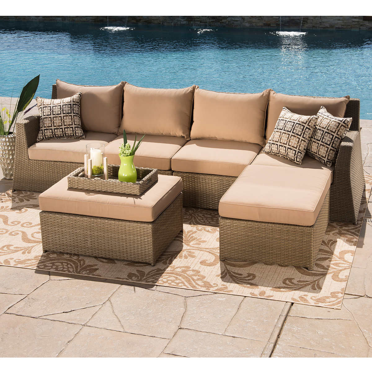 Click to Zoom - Hampton 6-piece Seating Sectional By Sirio