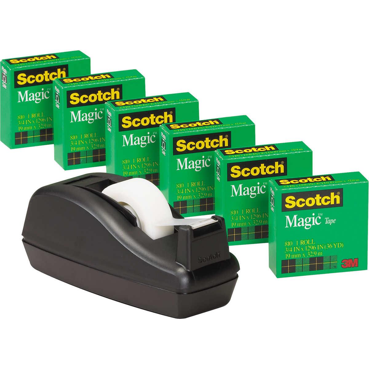 Scotch C40 Tape Dispenser With 6 Rolls Of Magic Tape