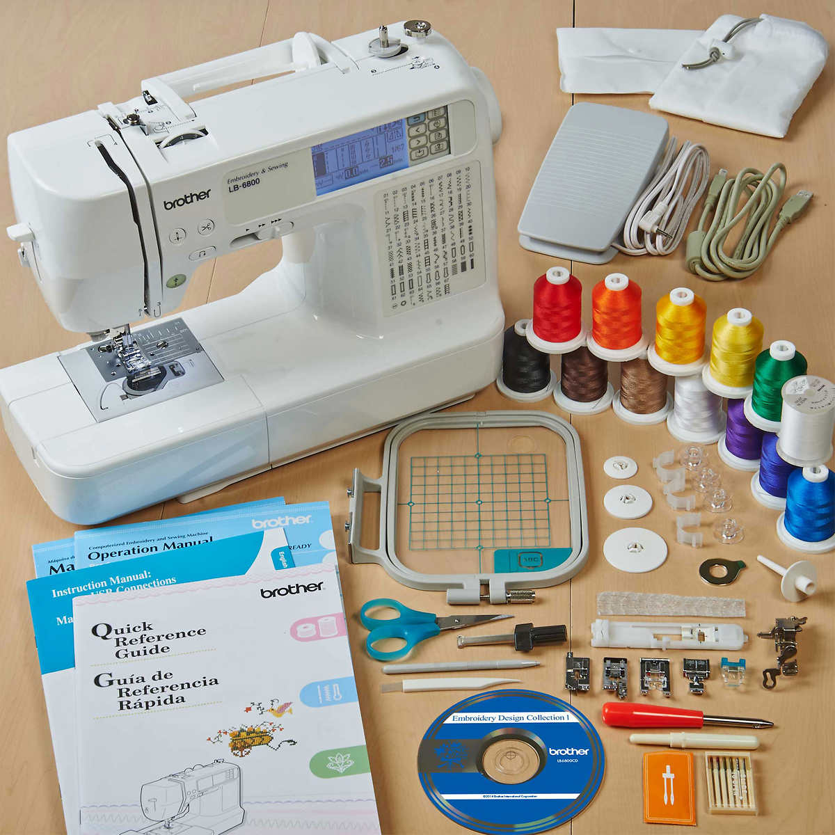 Brother Lb 6800thrd Computerized Sewing And Embroidery Machine W 12 Free Threading Diagrams