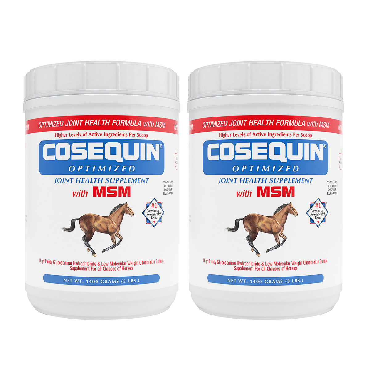 Cosequin Optimized Formula with MSM Equine Powder 3 lb Tub, 2-pack