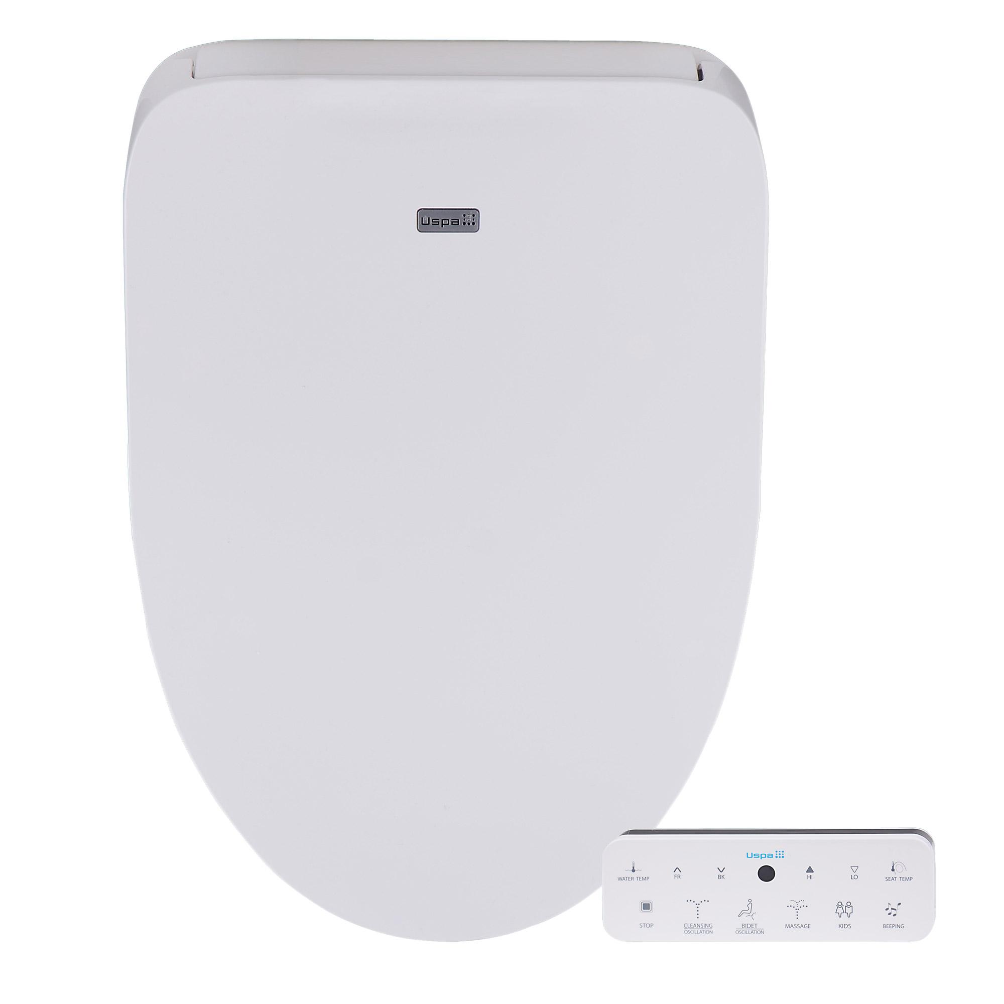 Bio bidet uspa 4800 luxury smart bidet toilet seat in white new ebay - Bidet heated toilet seat ...