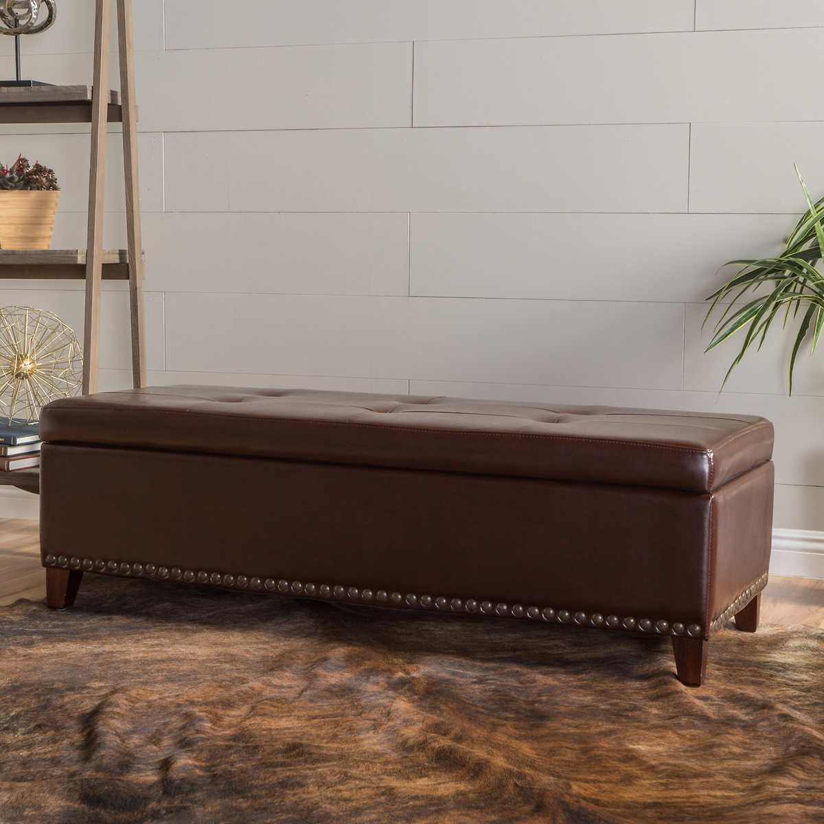 Baltimore Storage Bench - Bonded Leather - Ottomans & Benches Costco