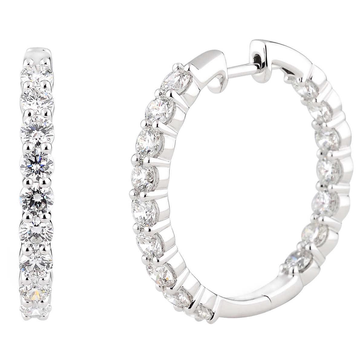 White gold loop earrings twist oval hoop earrings in 14k for Jared jewelry the loop