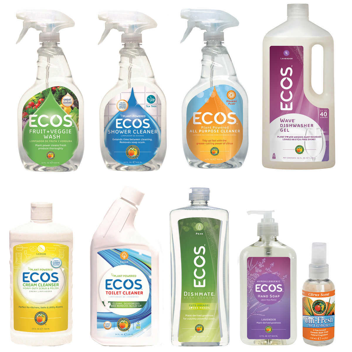 ECOS Earth Friendly Products Kitchen & Bath Cleaning Combo Pack