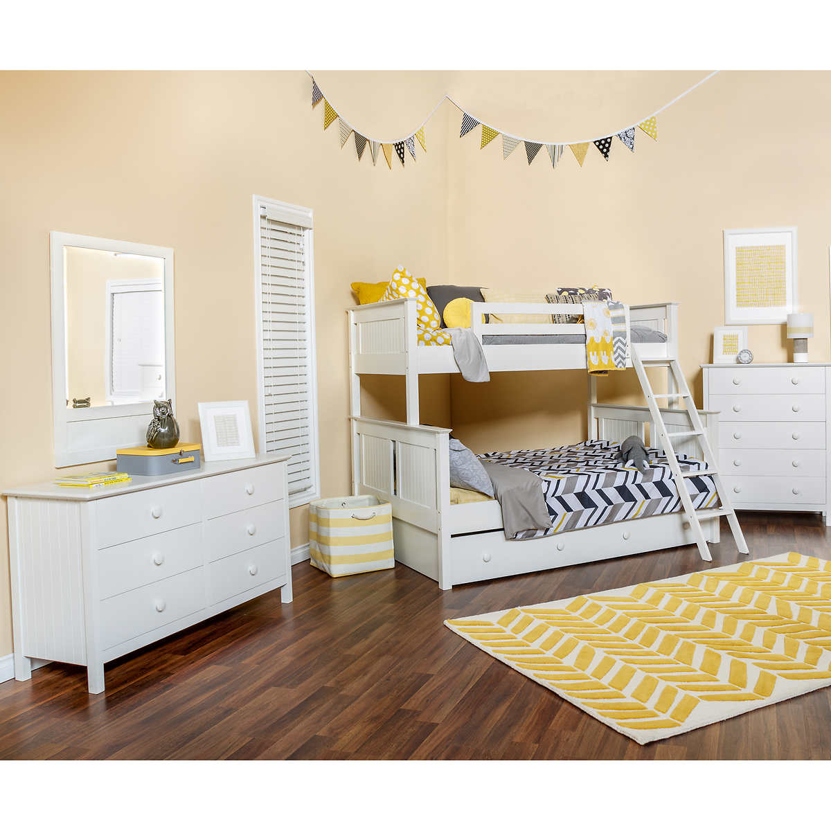 Baby jasper bed brackets - Dakota 4 Piece Twin Over Full Trundle Bunkbed Set