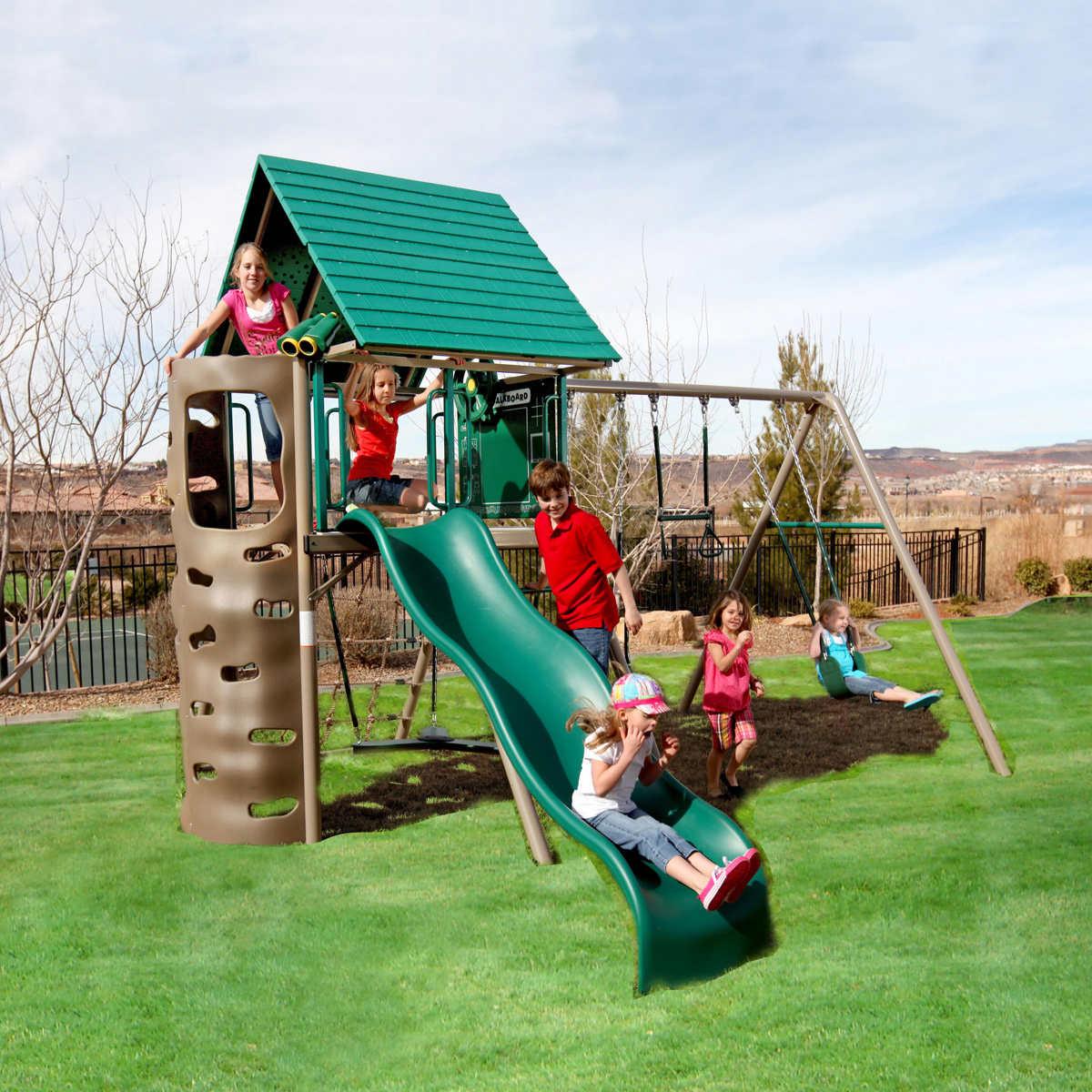 wrangler with ca pdp slide set included wood not n hardware lifetime wayfair kit baby swing deluxe kids