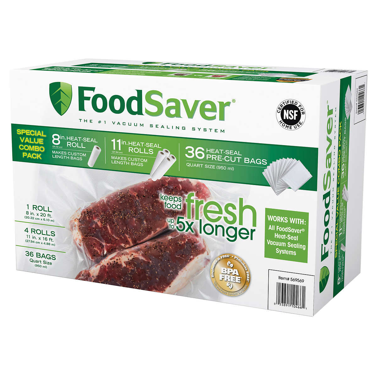 Foodsaver Special Value Combo Pack Multi Size Rolls Amp Bags