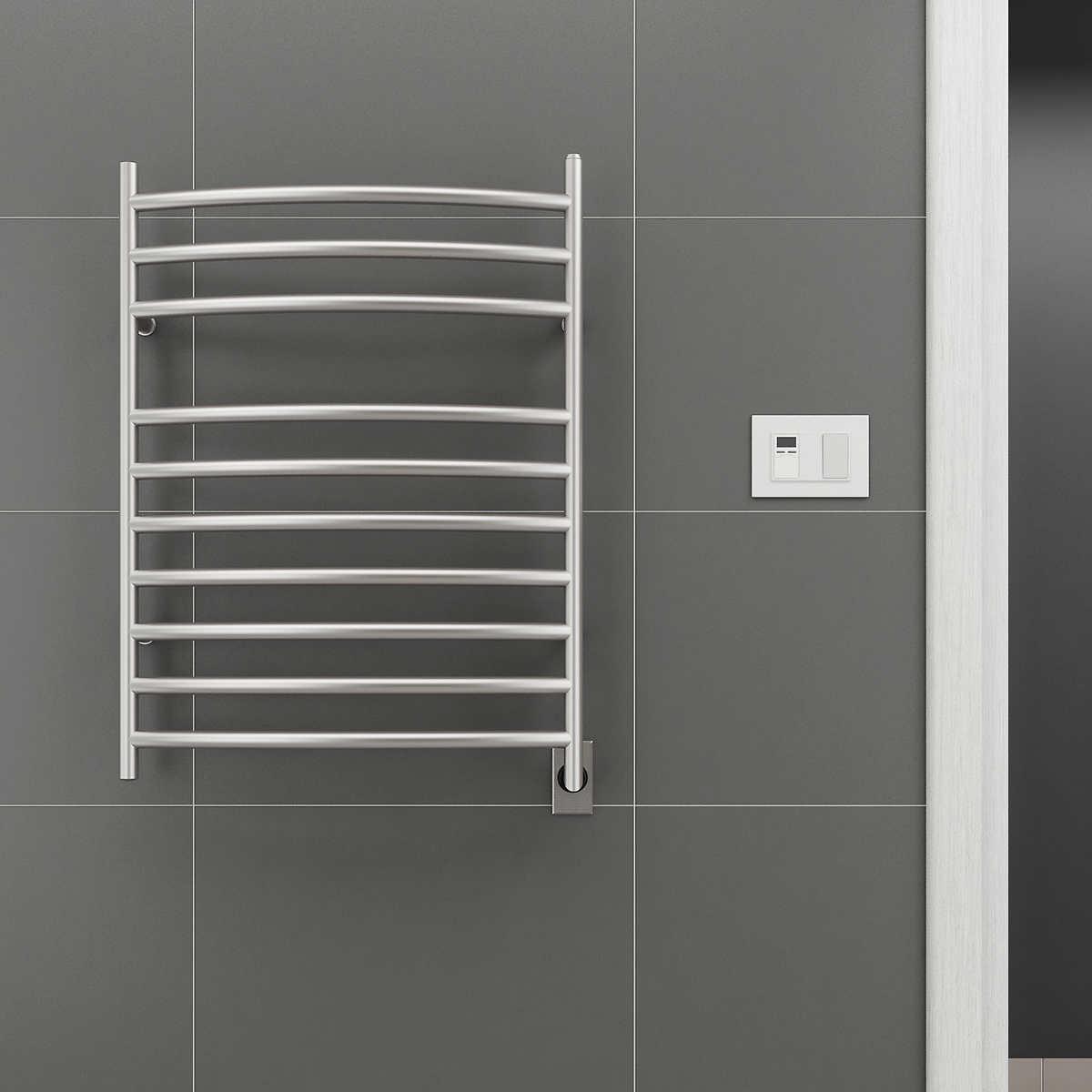 Bathroom towel heaters - Ancona Comfort 10s Electric Towel Warmer And Drying Rack