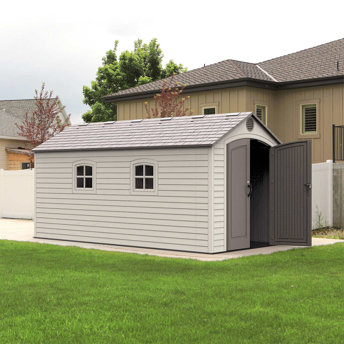 9x12 Garden Plan Shed Plans Rubbermaid Storage Sheds - Lifetime brighton 8 x 15 storage shed