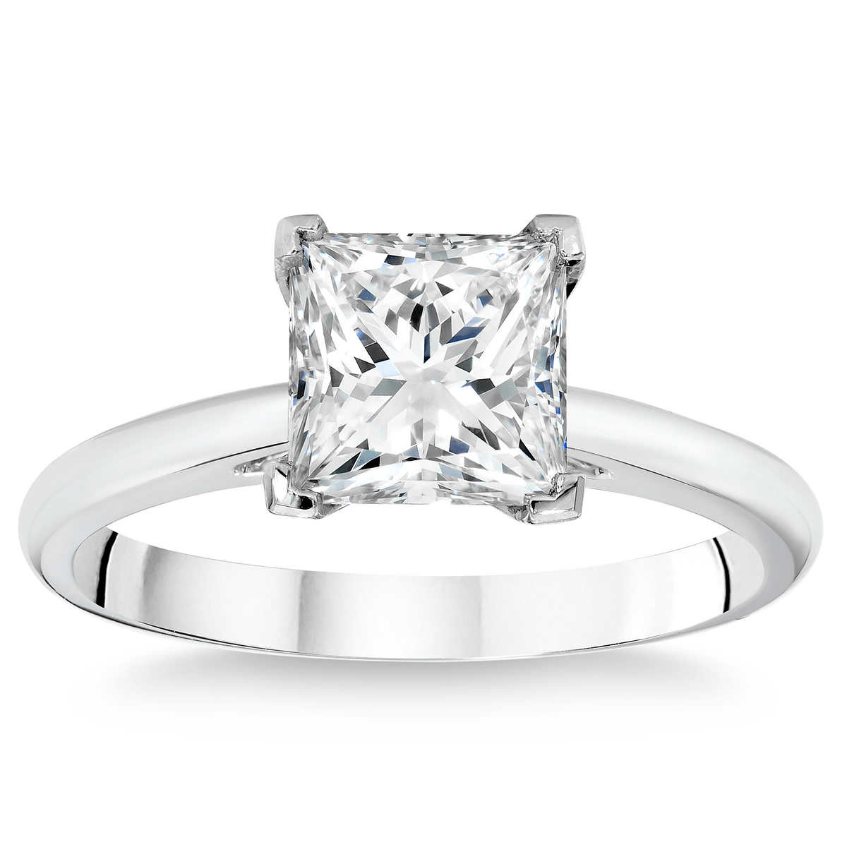 rings wedding rings dollars Princess Cut 2 54 ct VS1 Clarity H Color Diamond Platinum Solitaire Ring