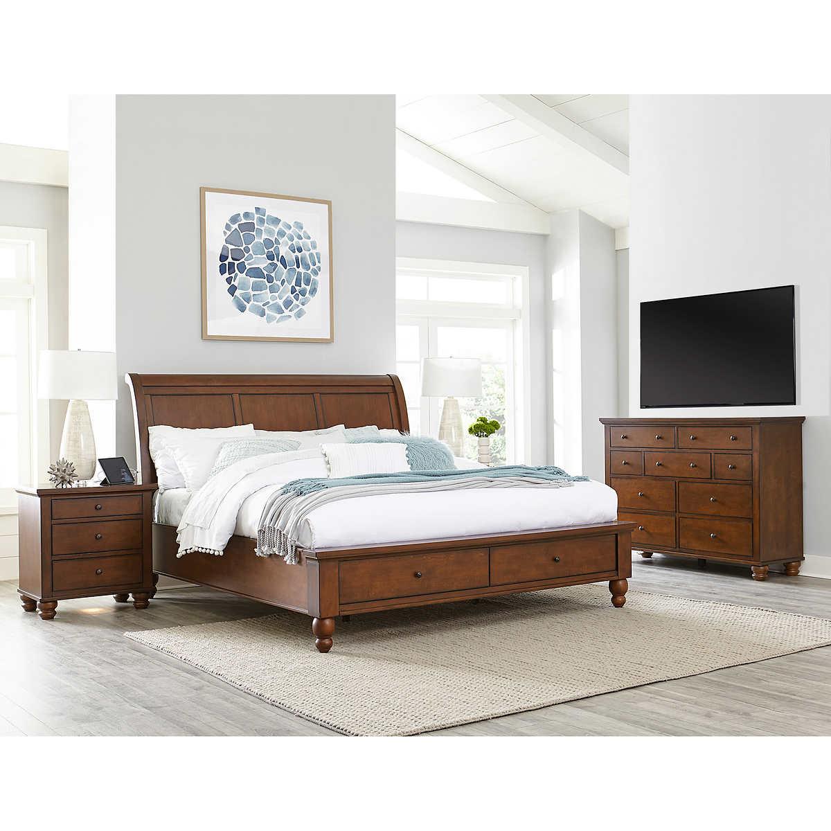 Queen bedroom sets with storage - Ashfield 4 Piece Queen Storage Bedroom Set