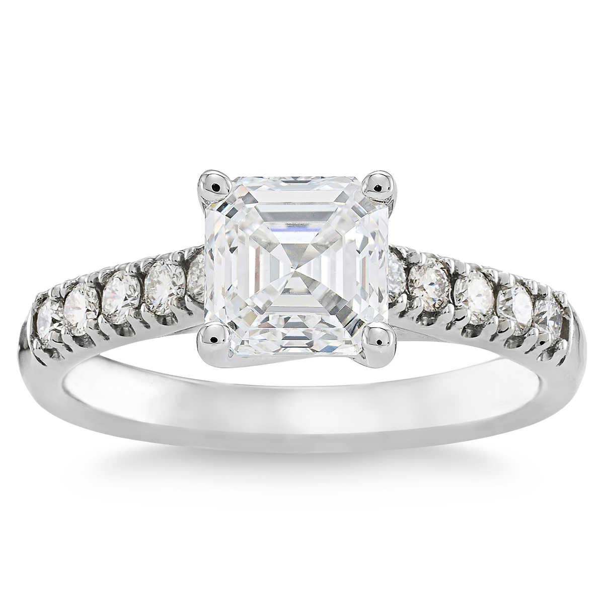 Square Emerald Cut 180 Ctw Vs1 Clarity G Color Diamond Platinum Ring