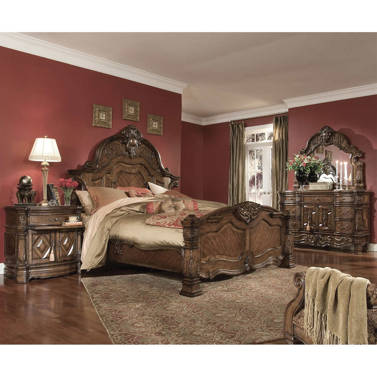 queen bedroom sets  costco - ellington piece queen bedroom set