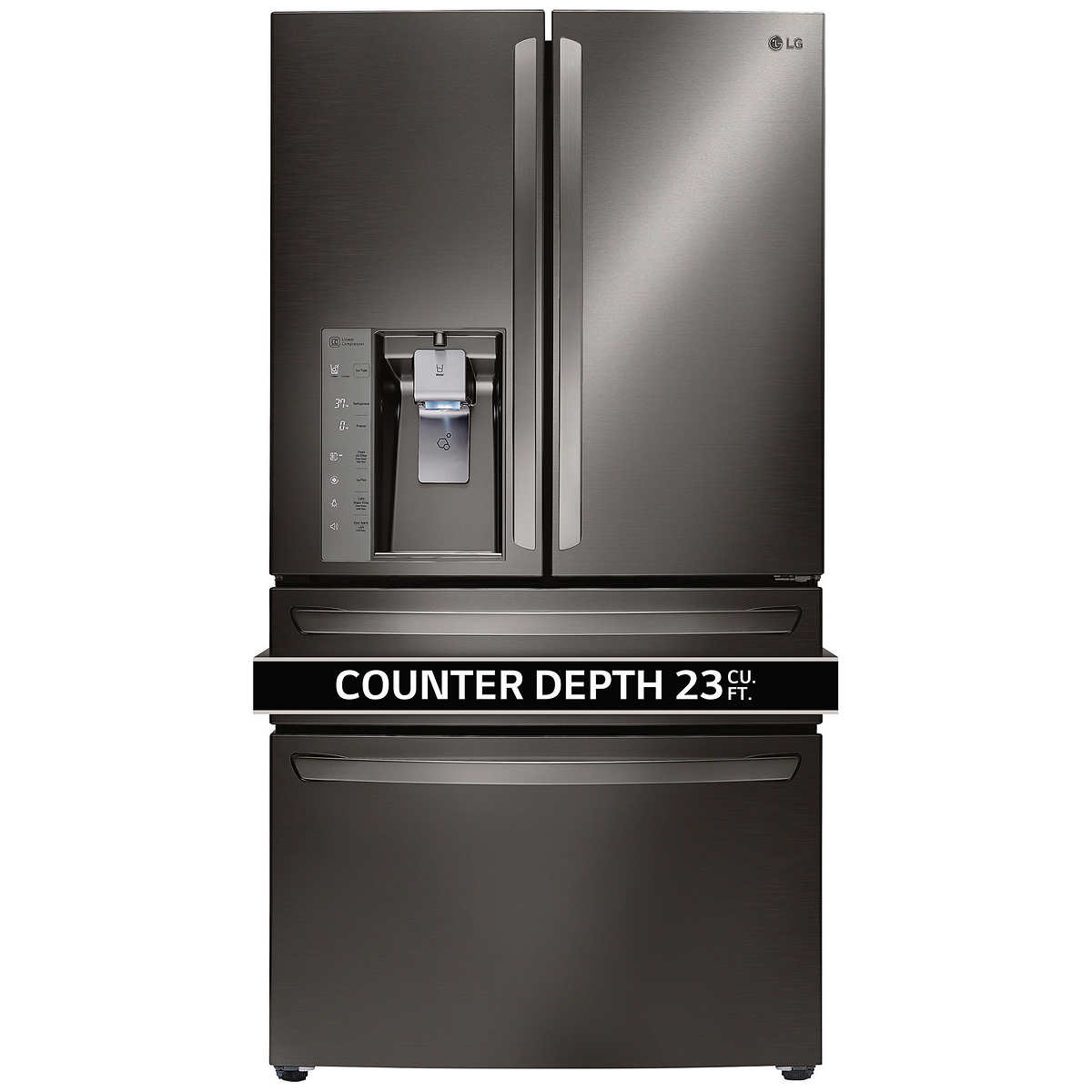 What Is The Depth Of A Counter Depth Refrigerator Lg 23cuft Counter Depth 4 Door French Door Refrigerator In Black
