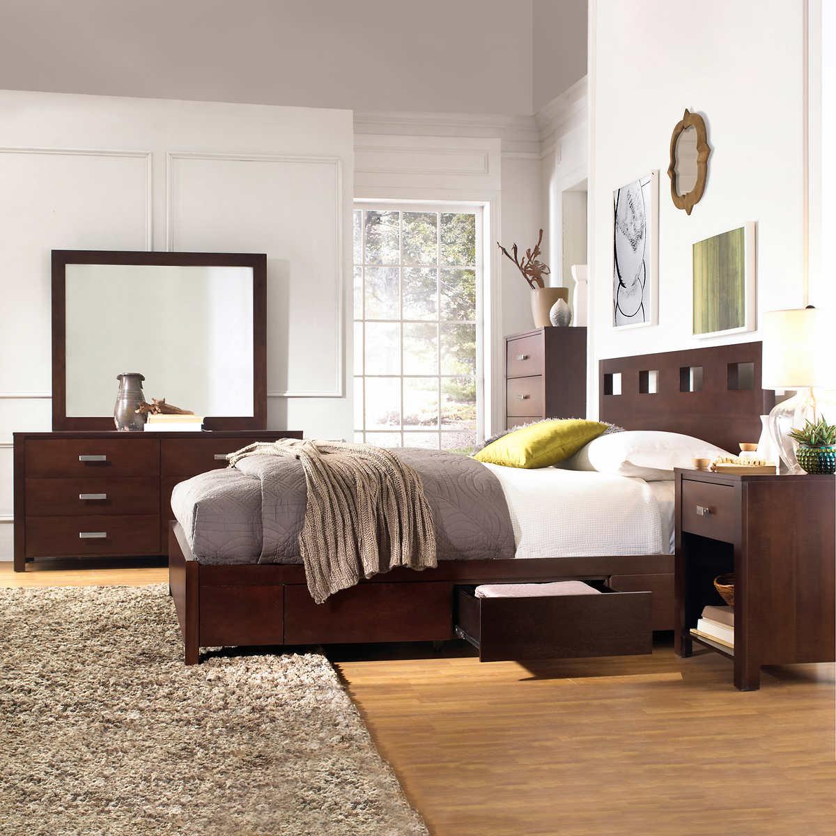 Queen bedroom sets with storage -  Queen Storage Bedroom Set Item 650333 Click To Zoom