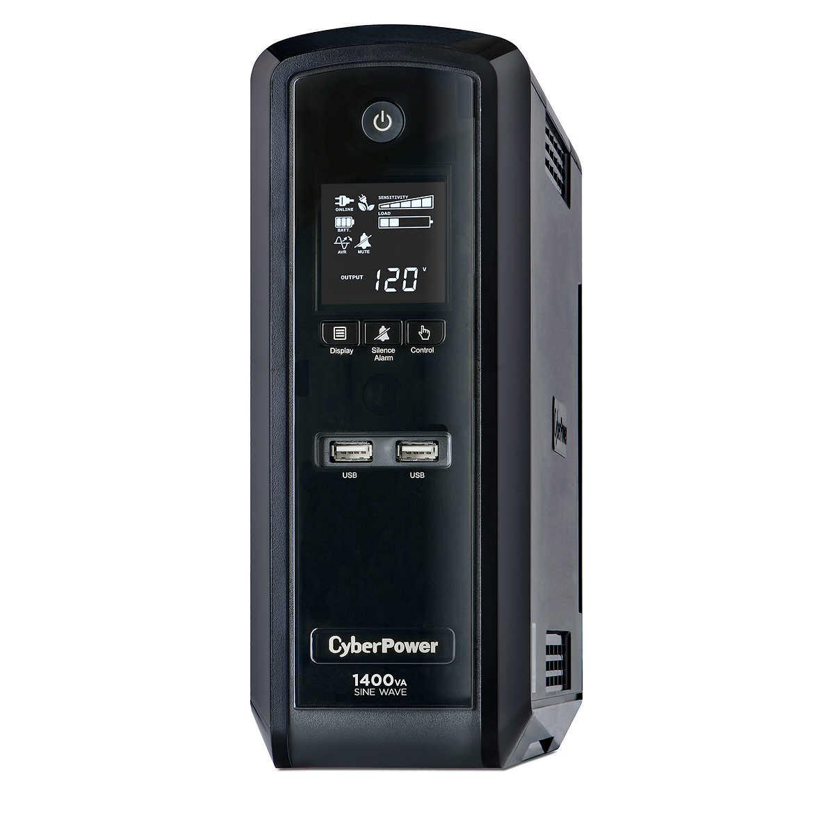 CyberPower 1400VA / 900Watts True Sine Wave Uninterruptible Power Supply  (UPS)