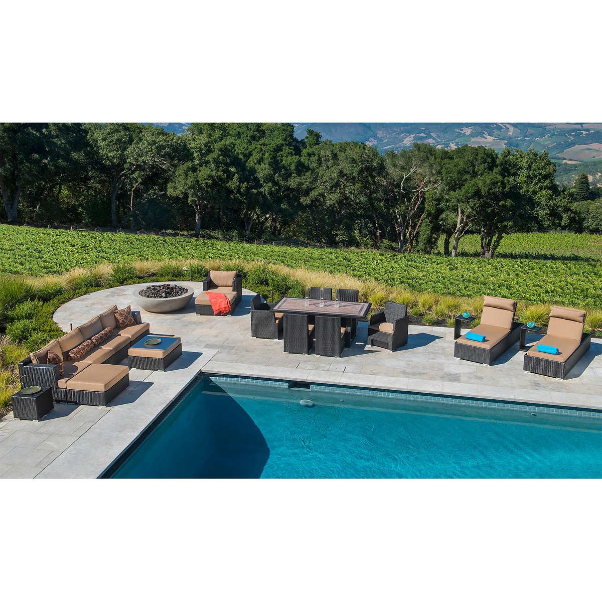 Patio furniture sets costco - Niko 20 Piece Patio Estate Collection By Sirio