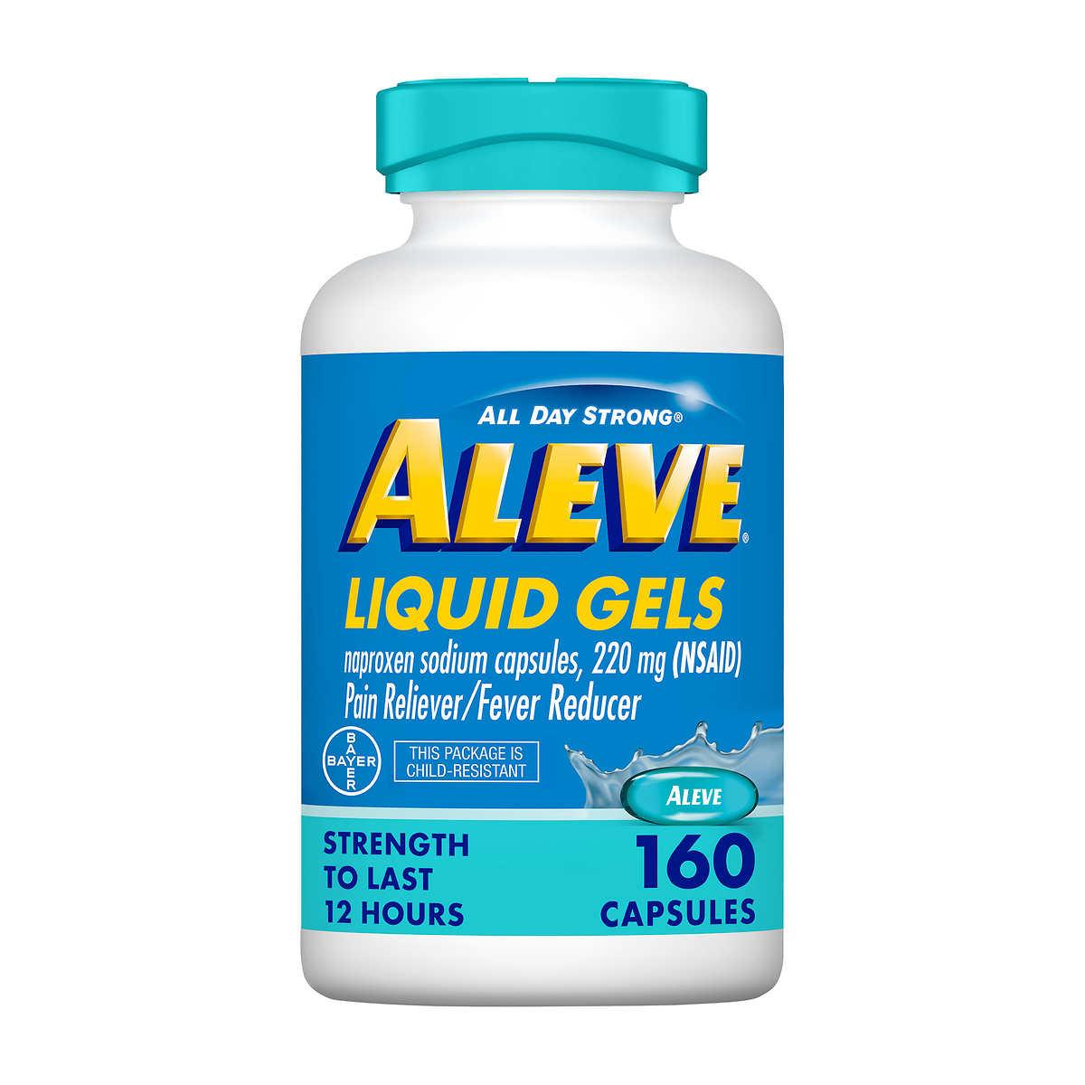 Aleve Pain Reliever 160 Liquid Gels Ebay