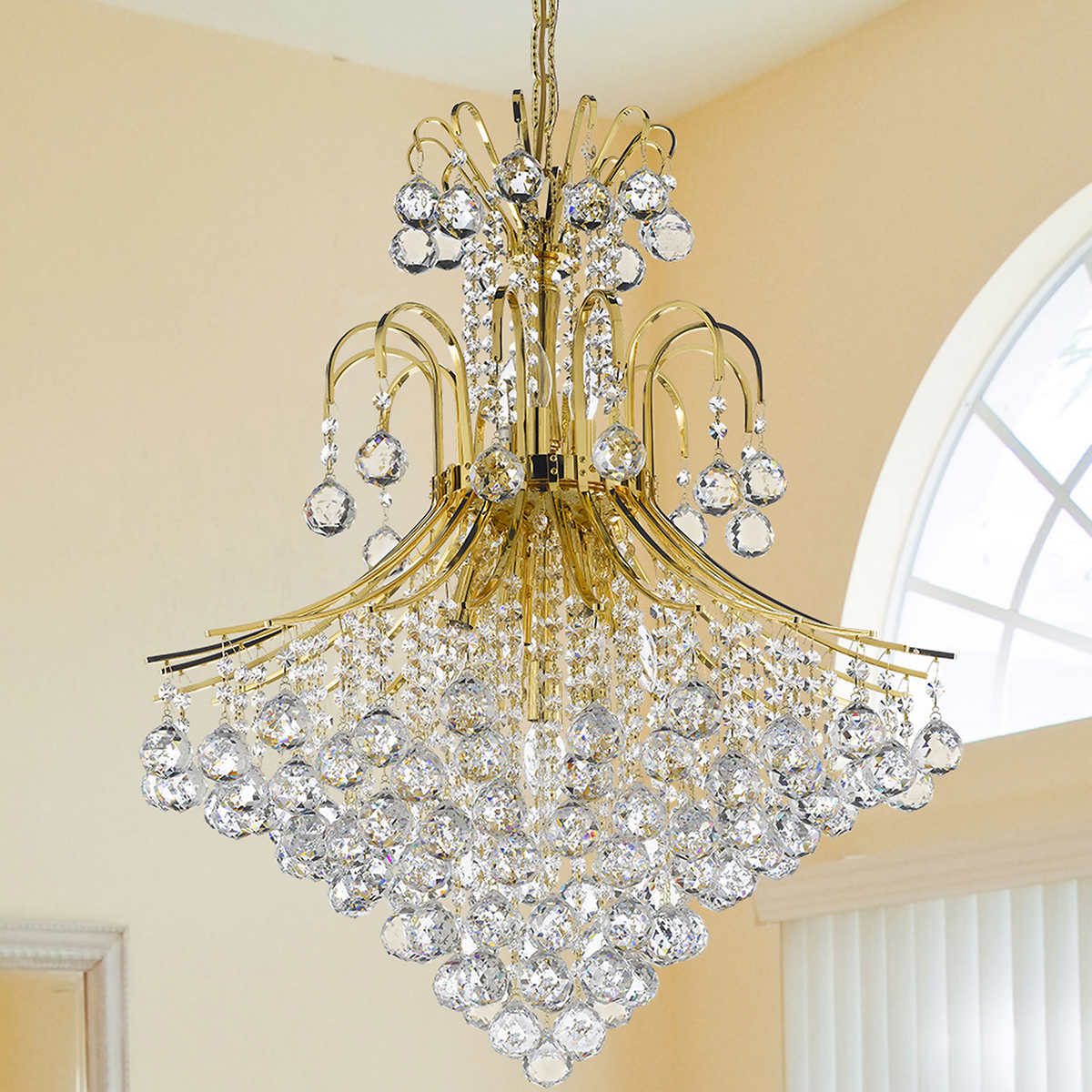 Lighting by pecaso contour gold chandelier 15 lights 1 1 mozeypictures Image collections