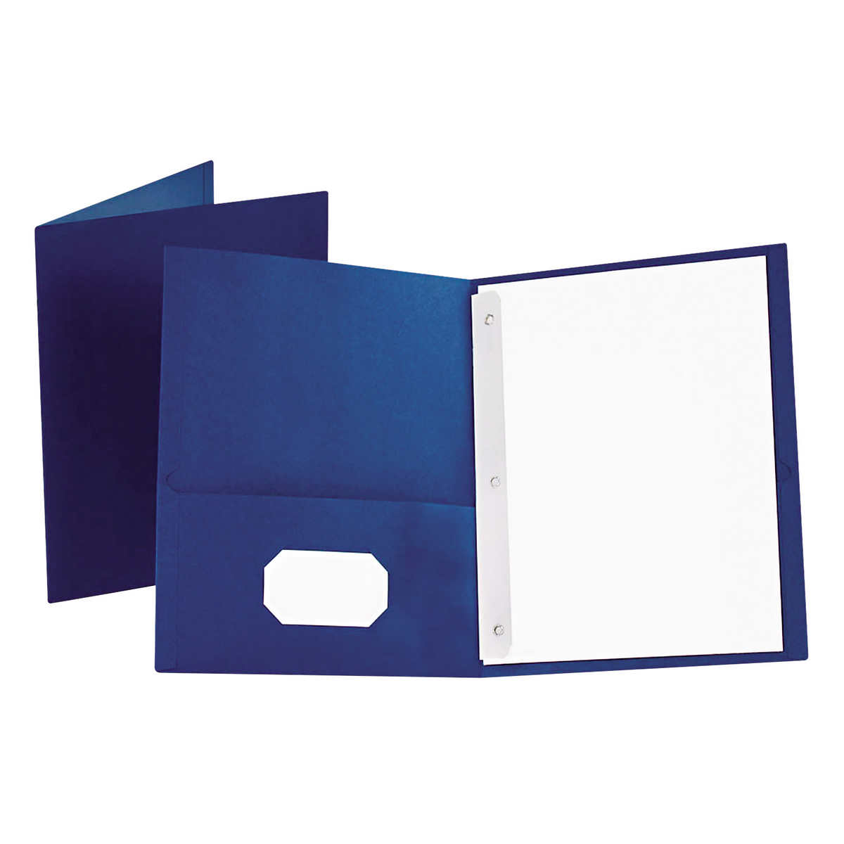 oxford twin pocket folder with fasteners letter blue 25ct