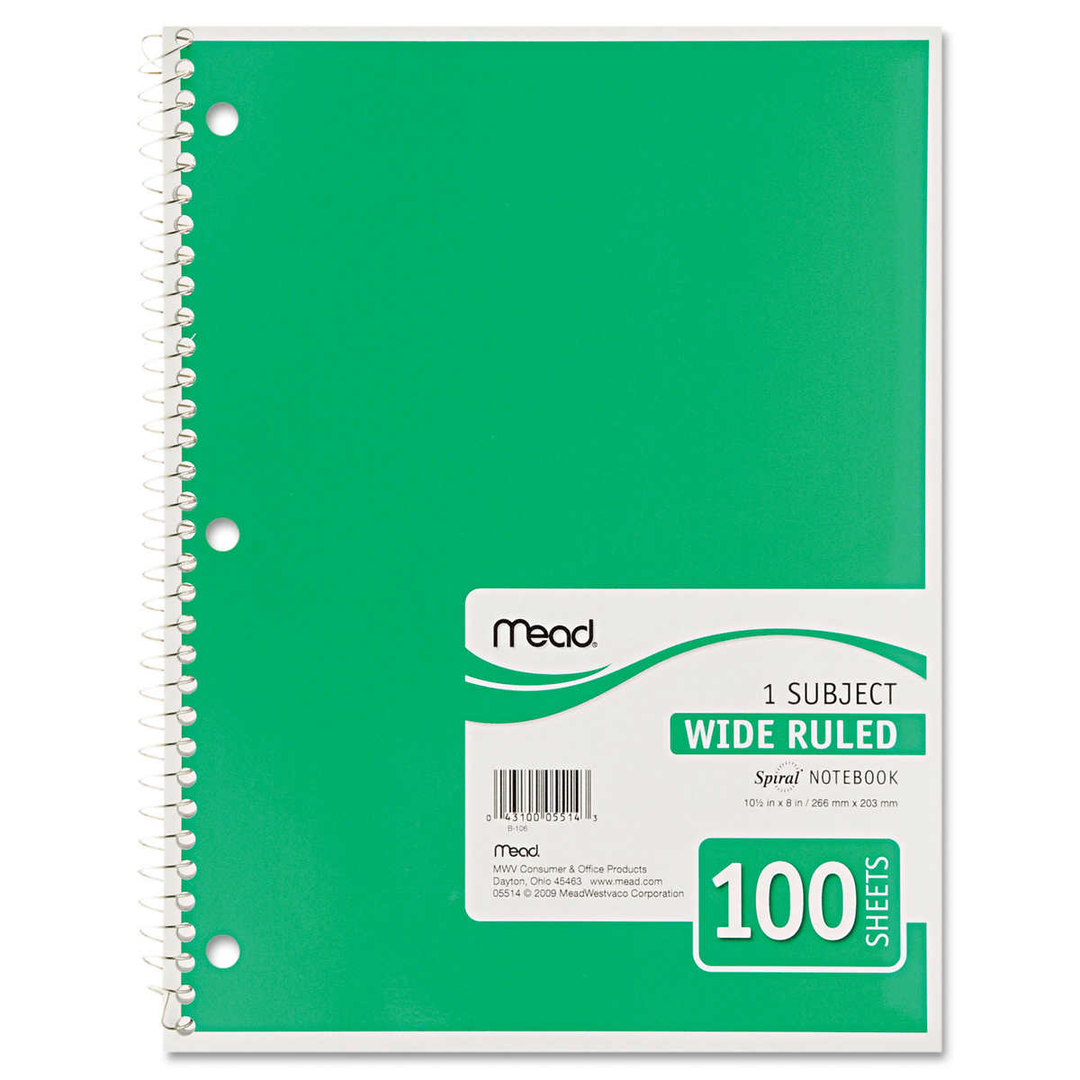 Rediform office products subject wirebound notebook wide - Member Only Item