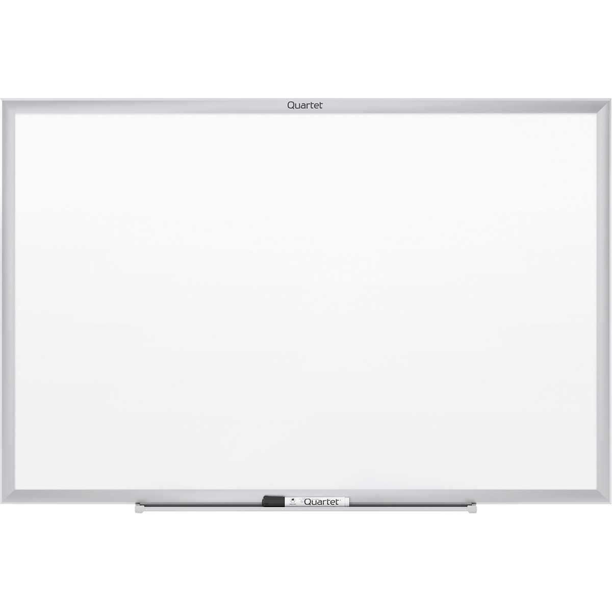 Framed Dry Erase Board Quartet Dry Erase Board Aluminum Frame 48 X 36 Qrt S534
