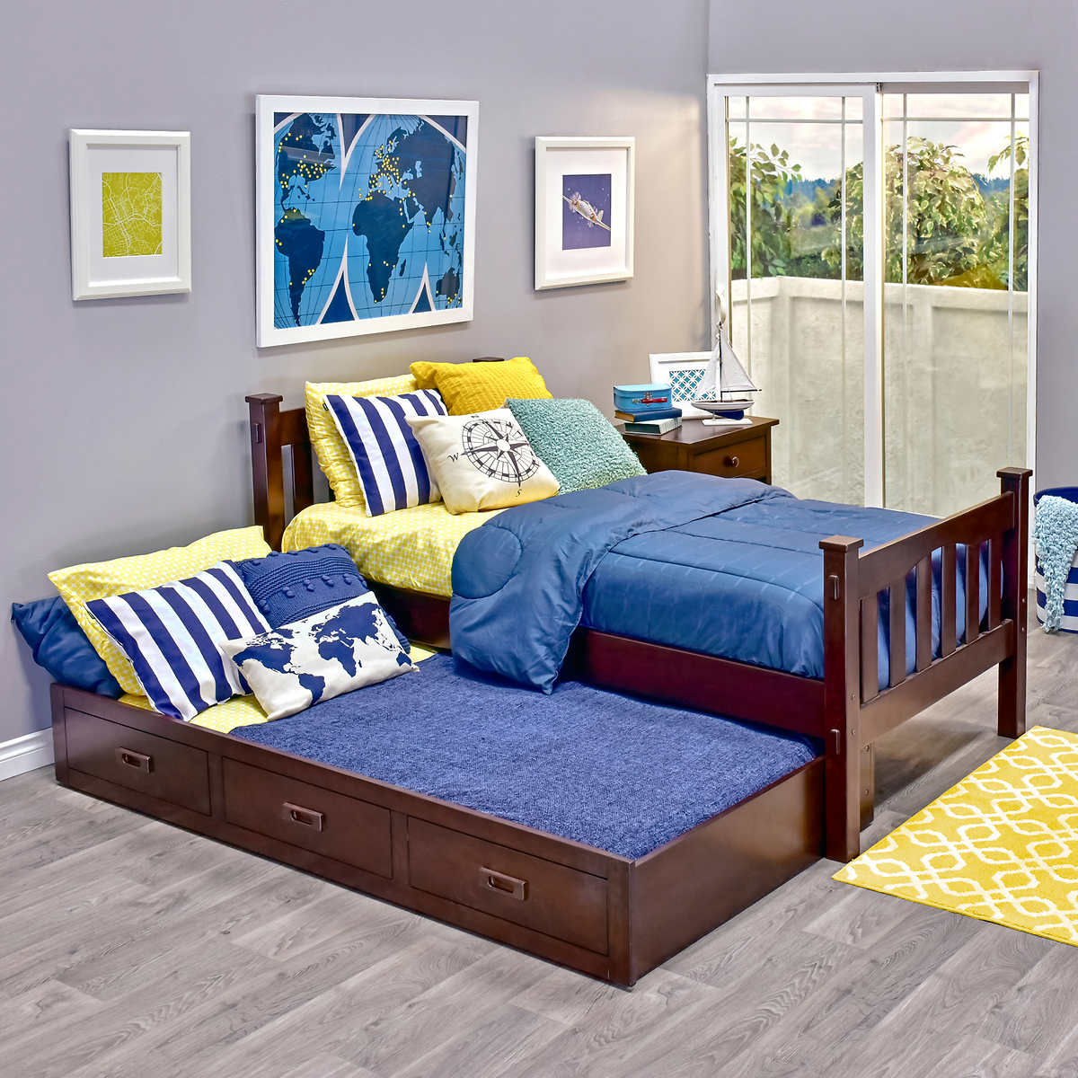 Twin trundle bed frame - Cameron Twin Trundle Bed Item 632030 Click To Zoom