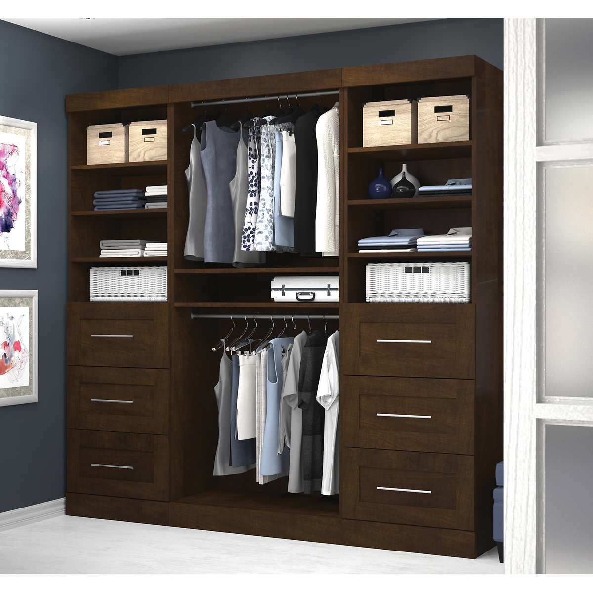 Boutique Stow Away Closet Kit - Storage Cabinets & Shelving Units Costco