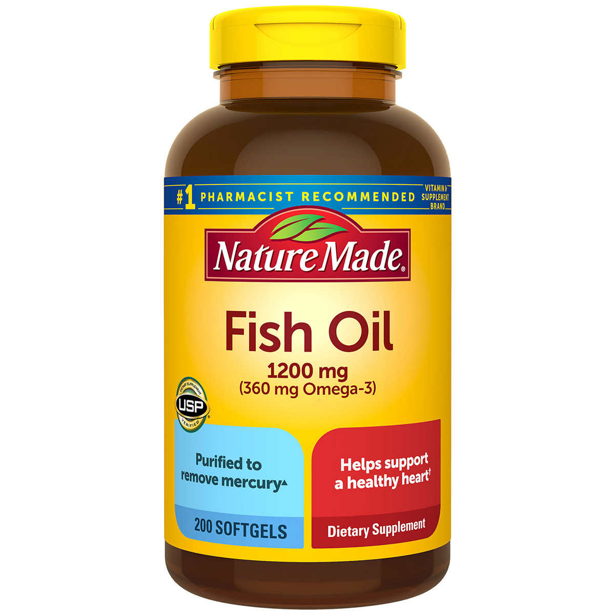 Nature Made Fish Oil 1200 Mg 400 Softgels