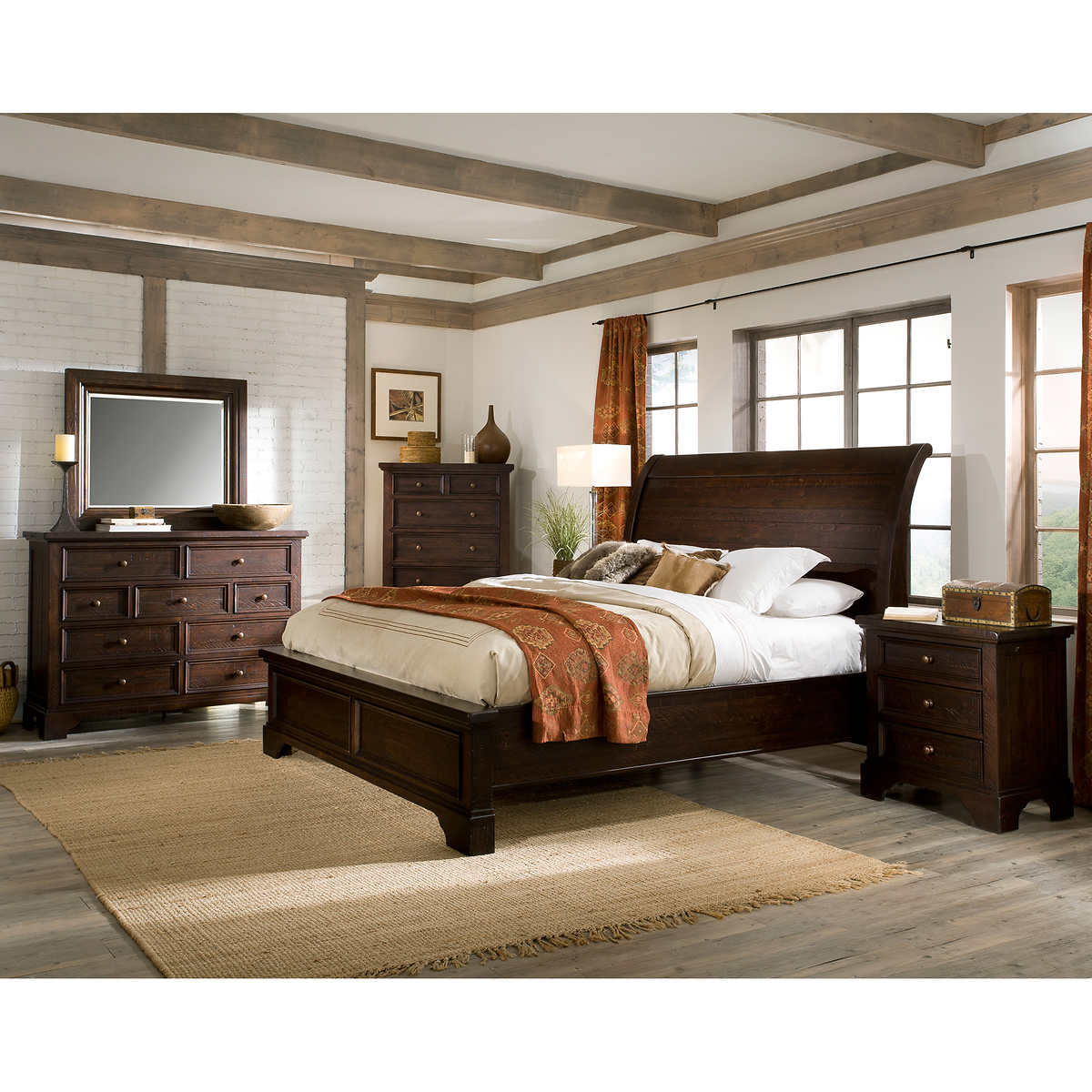 king bedroom furniture set.  Telluride 6 piece King Bedroom Set
