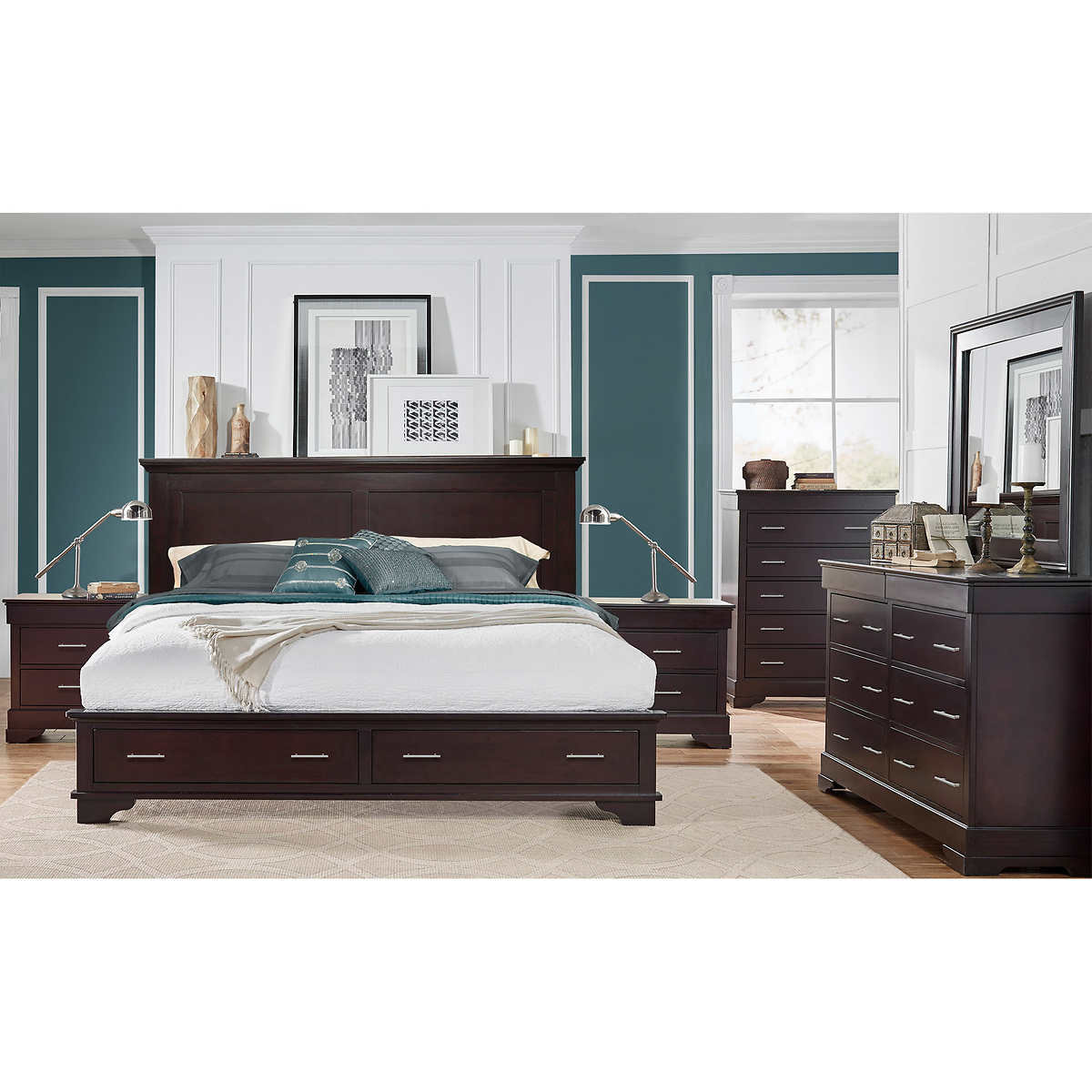 Click to Zoom. Hudson 6 piece King Storage Bedroom Set