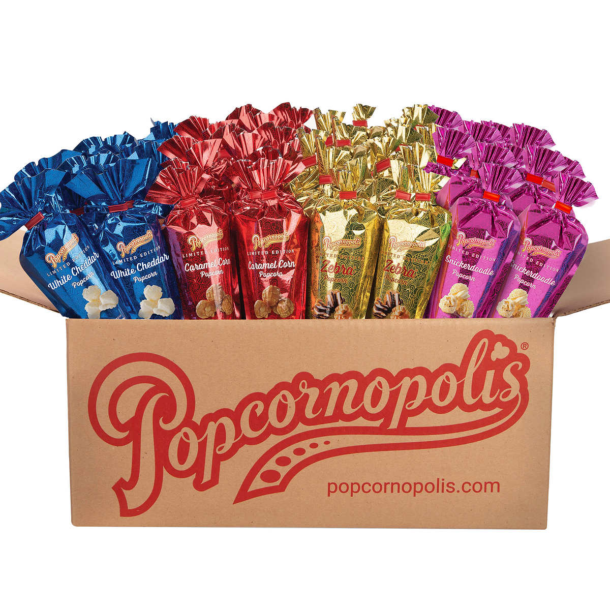 gift baskets popcornopolis mini cones variety 48 count