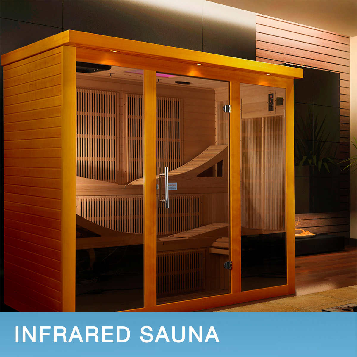 Dynamic Monaco 6-person with Ultra Low EMF FAR Infrared Sauna Heaters