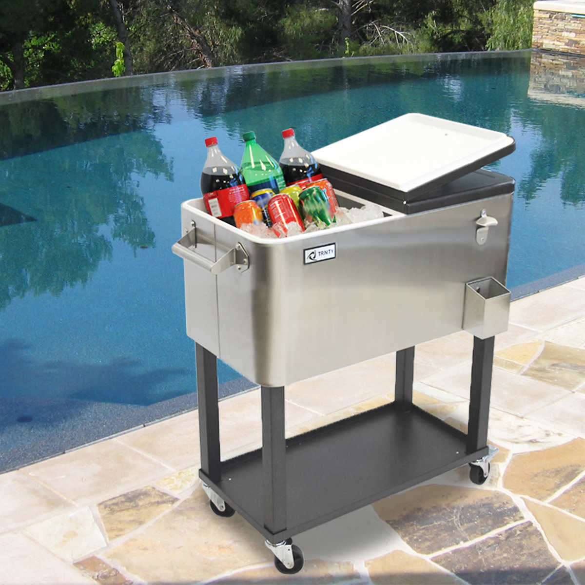 Table Drinks Cooler Patio Beverage Carts Coolers Costco