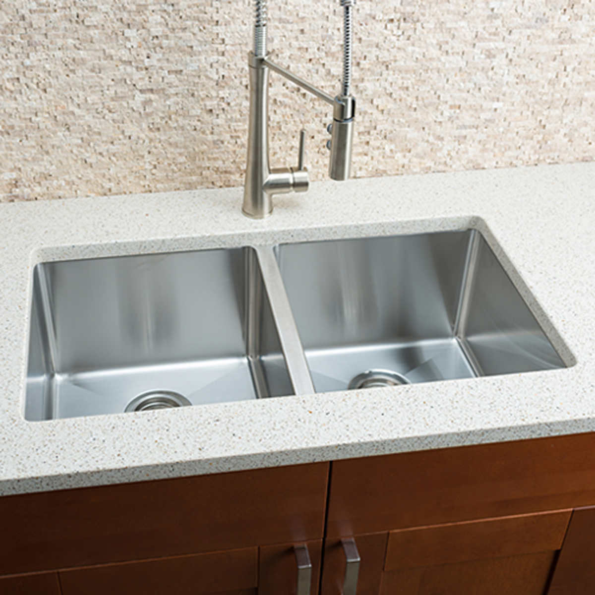 Hahn Chef Series Handmade Extra Large Equal Double Bowl Sink product hahn kitchen sinks Click to Zoom