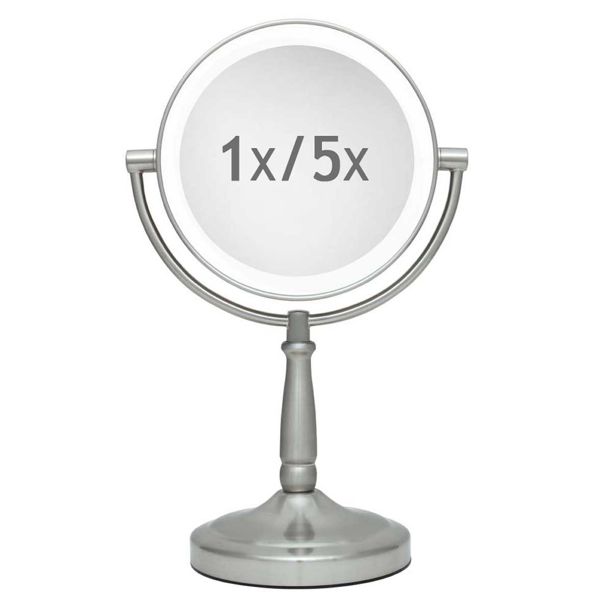 Zadro 75 cordless dual led lighted round wall mount mirror member only item amipublicfo Gallery