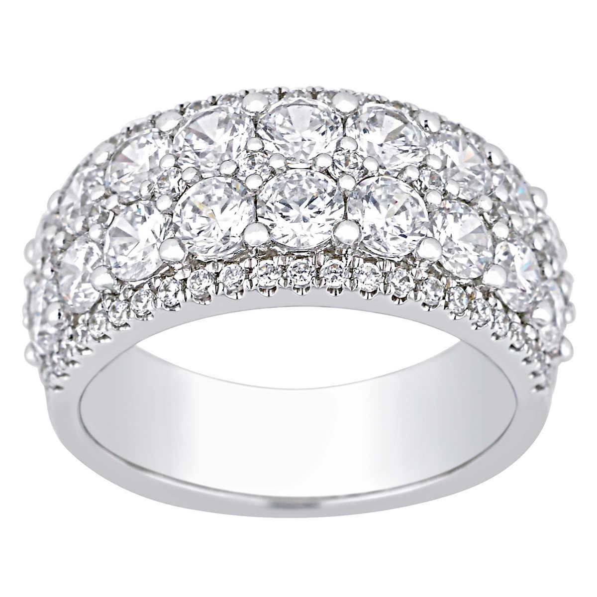 diamond bands platinum diamond wedding bands Round Brilliant 3 00 ctw VS2 Clarity I Color Diamond Platinum Band