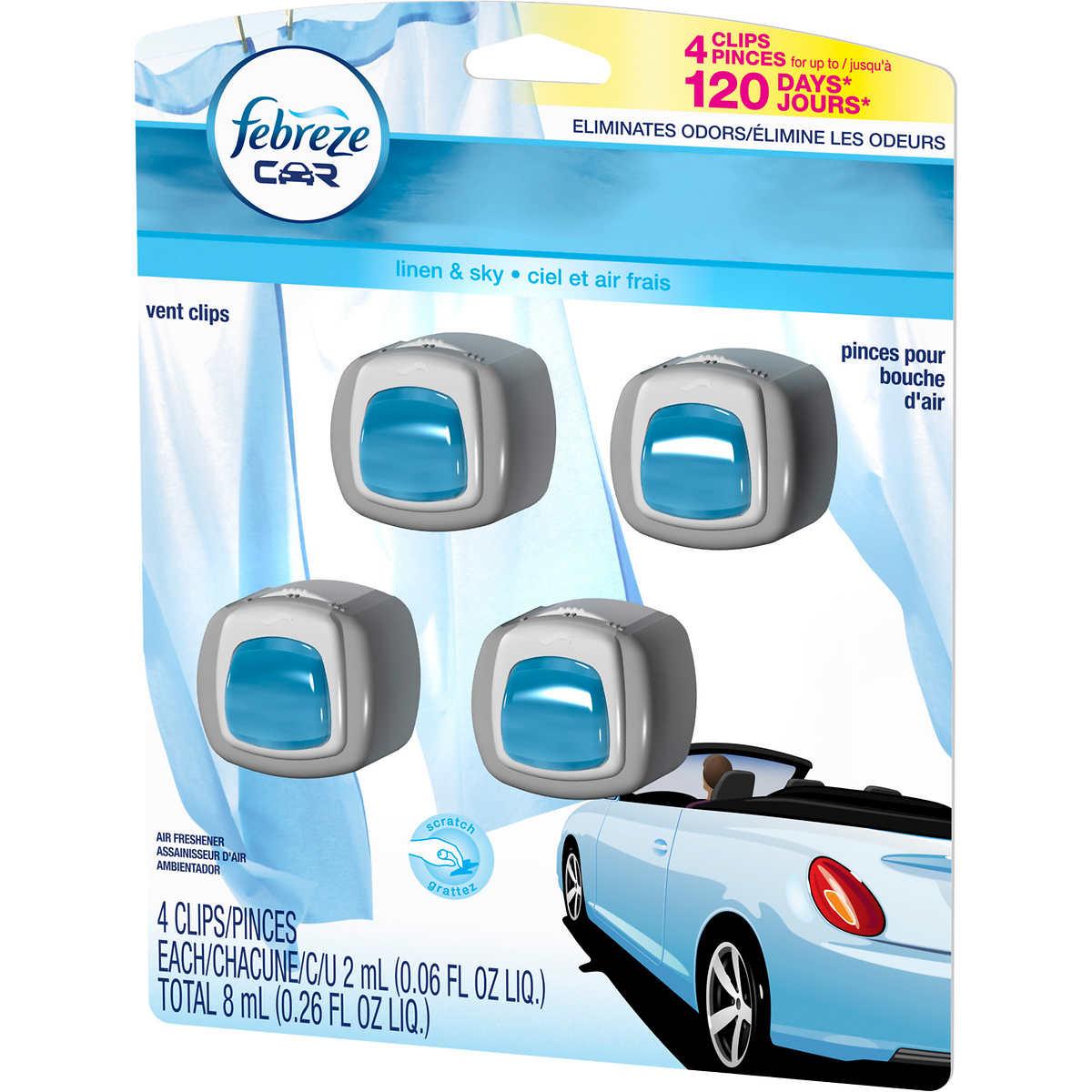 Weathertech mats costco - Febreze Car Vent Clips Linen Sky Scent 3 Pack