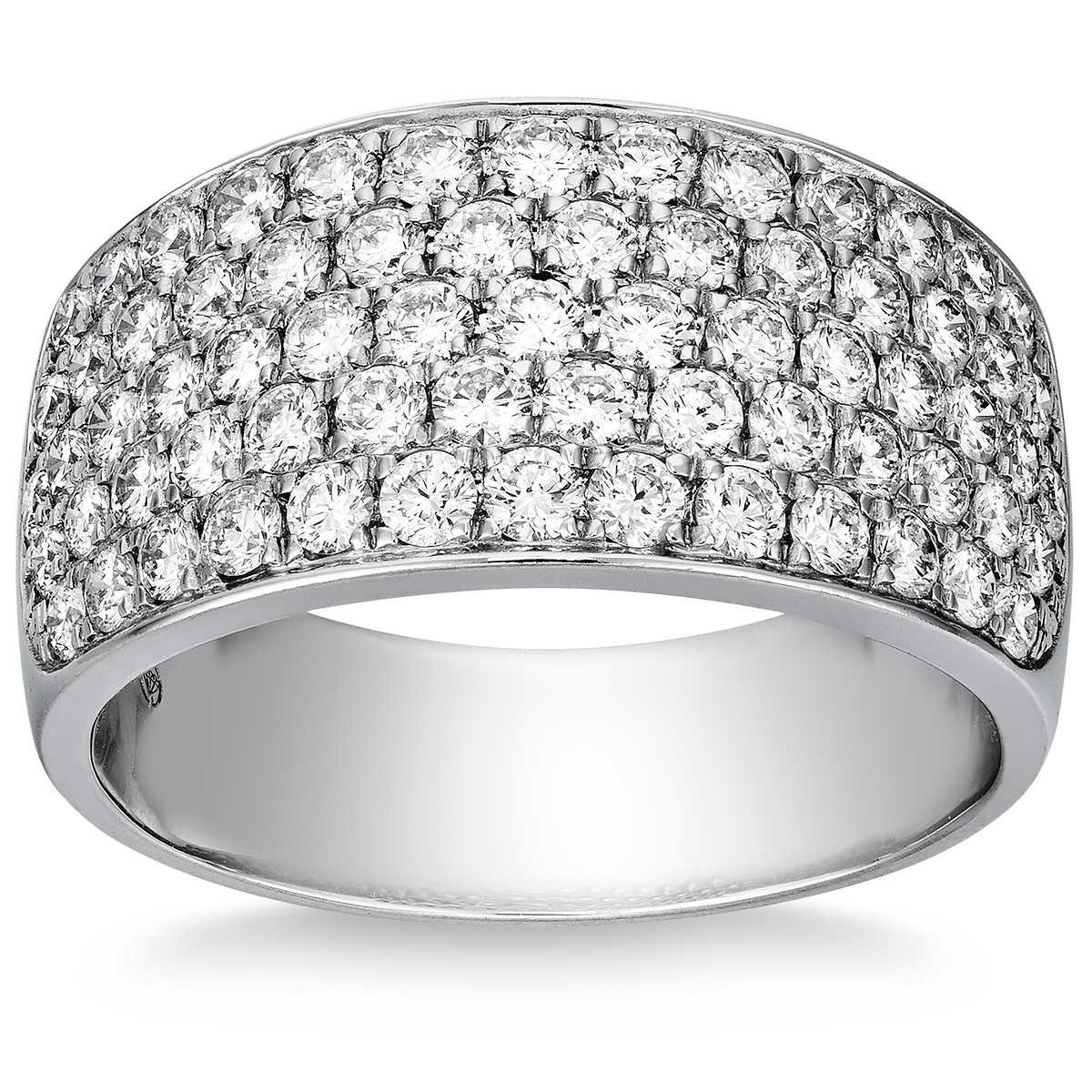 b7364be6057ba Round Brilliant 1.47 ctw VS2 Clarity, I Color Diamond 14kt White Gold Pave  Band