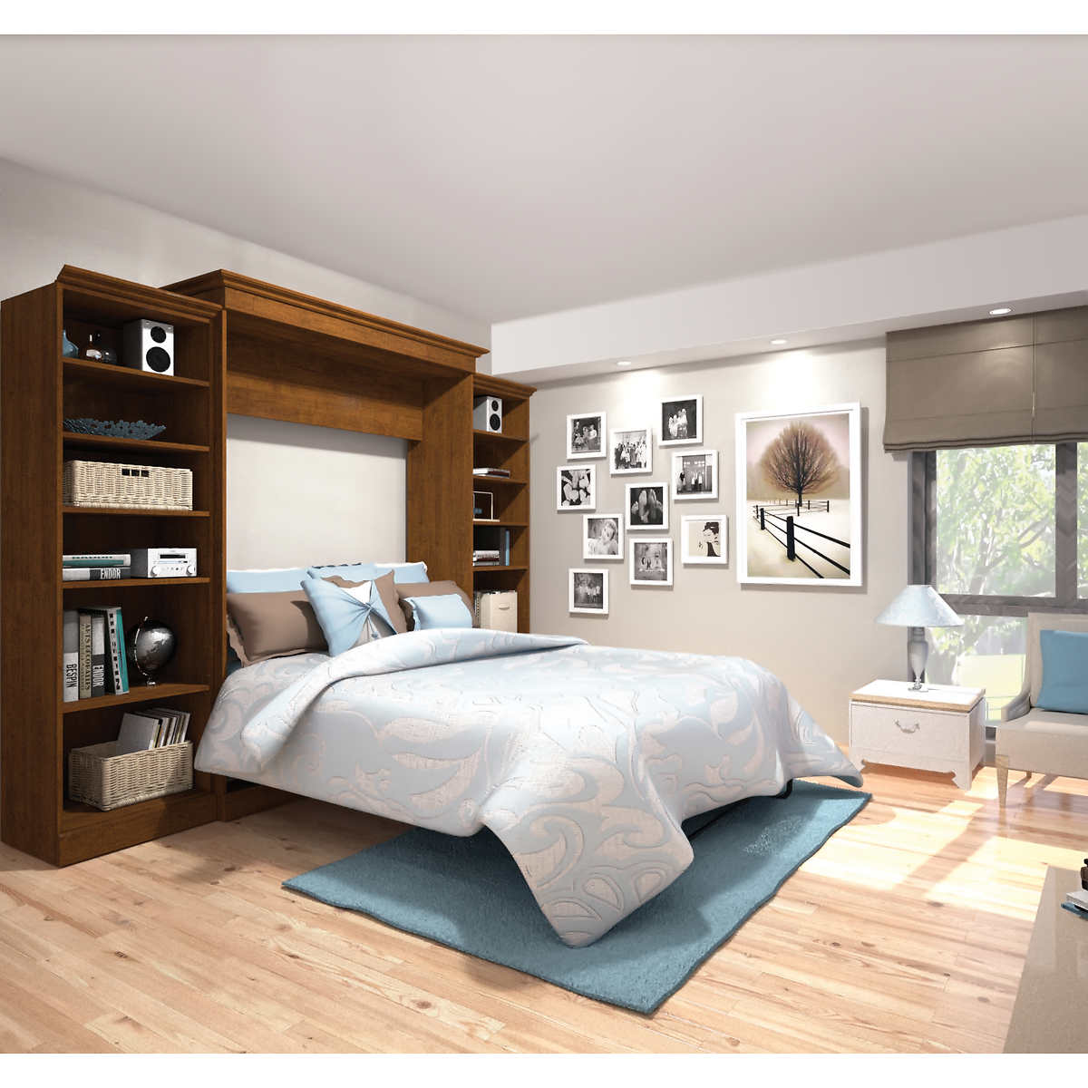 Wall queen bed image collections home wall decoration ideas bestar audrea queen wall bed with two 25 storage units in tuscany click to zoom amipublicfo amipublicfo Image collections