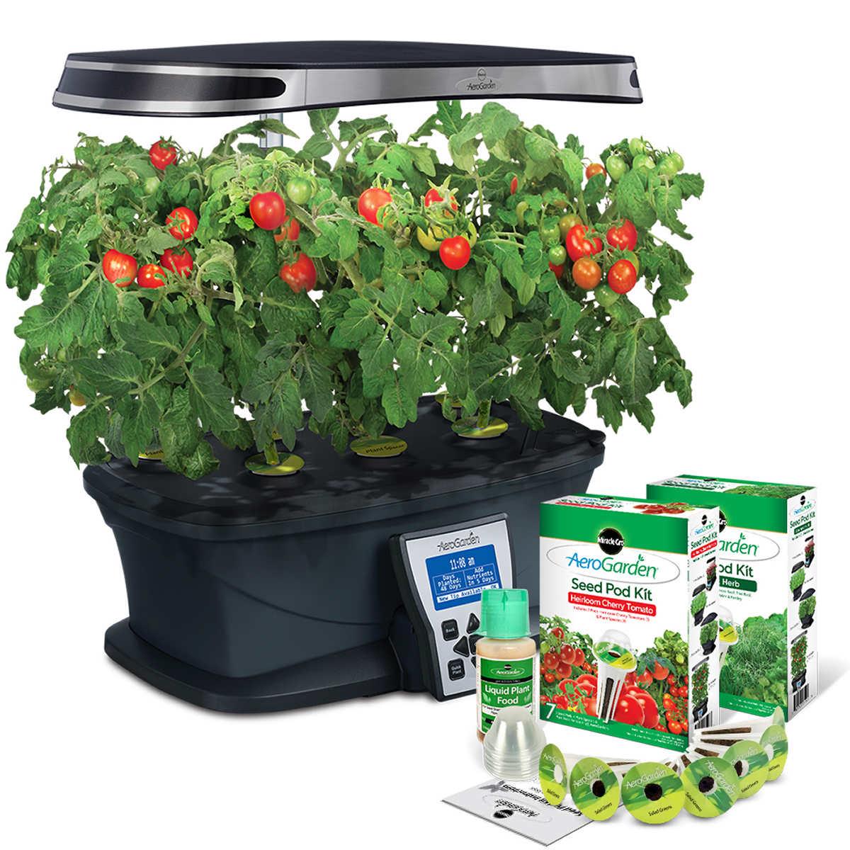 Hydroponic Kitchen Herb Garden Indoor Gardening Hydroponics
