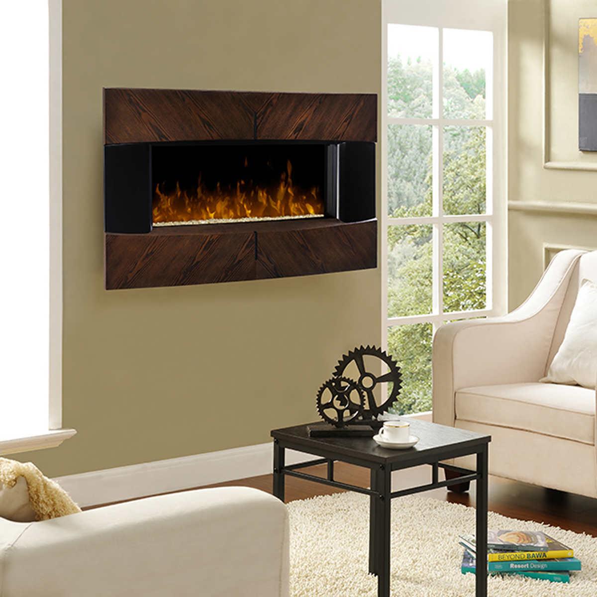 Harrington Wall Mount Electric Fireplace - Fireplaces