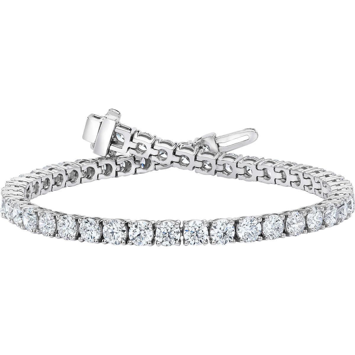 50fceb852 ... Round Brilliant 8.00 ctw VS2 Clarity, I Color Diamond 14kt White Gold  Bracelet. 1 1