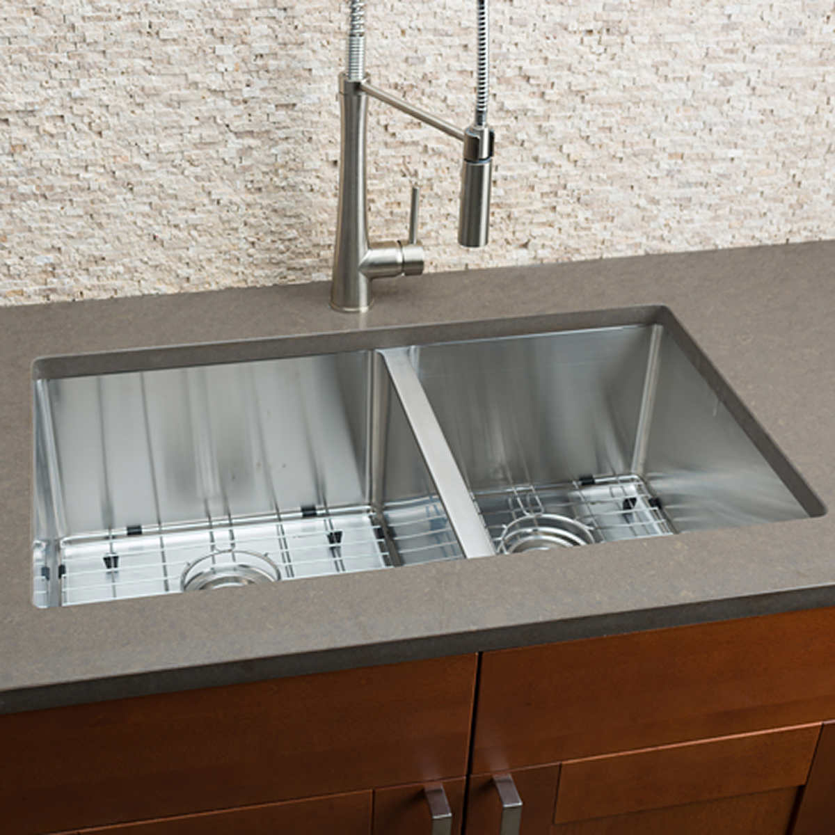 Hahn Chef Series Handmade 60/40 Double Bowl Sink  Kitchen Sink Faucet on copper bowl sink, hammered copper farmhouse sink, 24 bathroom vanity with sink, cast iron undermount double sink, 24 x 16 sink, 70 30 undermount stainless steel sink,